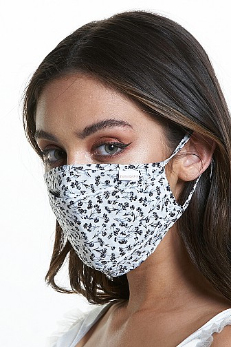 DAMASK PRINT 3D MASK EAR ADJUSTABLE